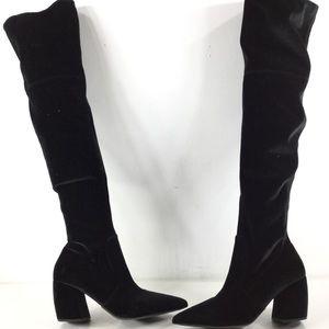 095d362ace4 ... PRADA knee high slanted heel suede boots size 7 ...